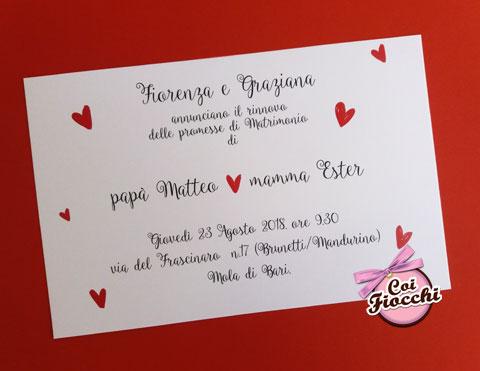 invito-nozze-mamma-e-papa-si-sposano semplice con cuoricini