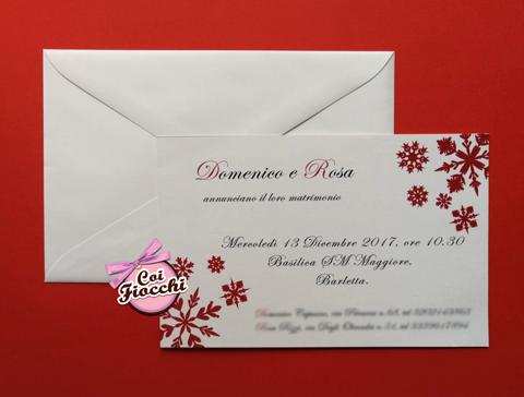 partecipazione nozze economica a tema natalizio