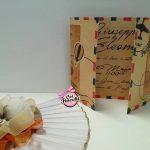 partecipazione nozze  a tema viaggio formato posta aerea vintage e mongolfiera
