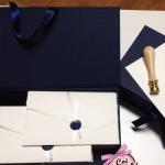 partecipazione di matrimonio elegante in carta amalfi e ceralacca