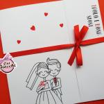 partecipazione-di-nozze-con-sposini stilizzati