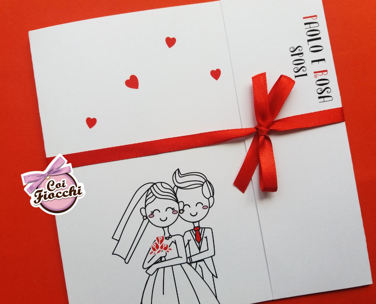 scegliere la carta per la partecipazione di nozze- carta liscia per sposini stilizzati