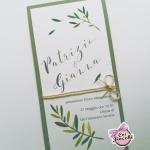 invito nozze ispirato alla puglia con rametti di ulivo
