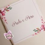 partecipazione matrimonio boho chic romantica con fiori rosa