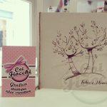 partecipazione nozze illustrata con alberi di ulivo
