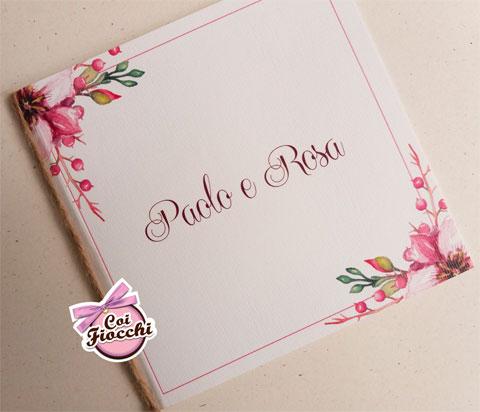partecipazione nozze romantica-boho-chic-fiori rosa agli angoli