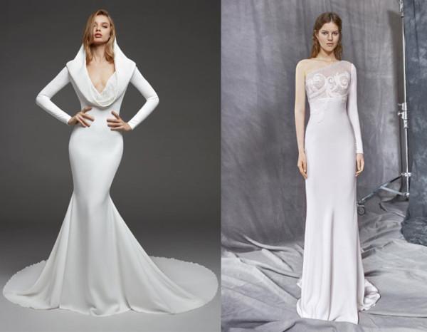tendenze-nozze-2019-abiti-da-sposa-minimal di pronovias e yolan cris