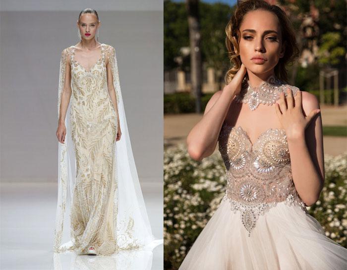 tendenze-nozze-2019-abiti-da-sposa in stile barocco con dettagli in oro
