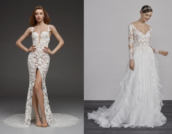 tendenze-nozze-2019-abiti-da-sposa-pizzo-nude-look di pronovias