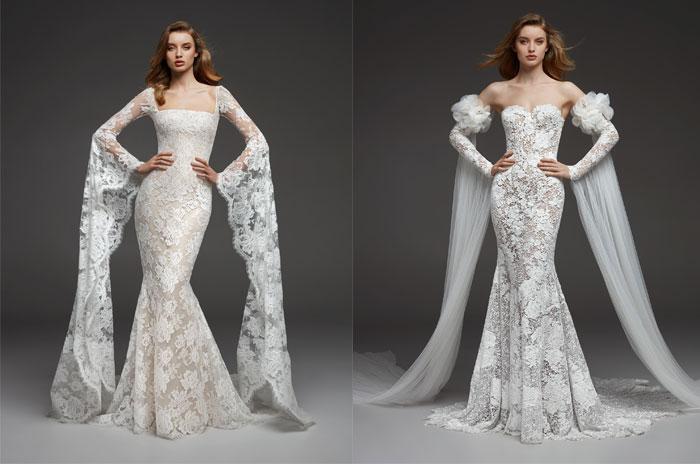 tendenze-nozze-2019-maniche lunghe su abiti da sposa di pronovias