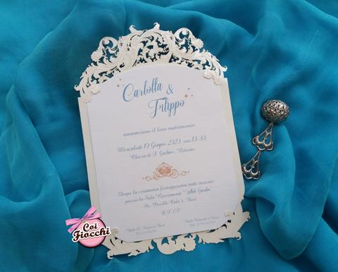 partecipazione nozze a tema cenerentola