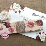 partecipazione nozze in scatola romantica
