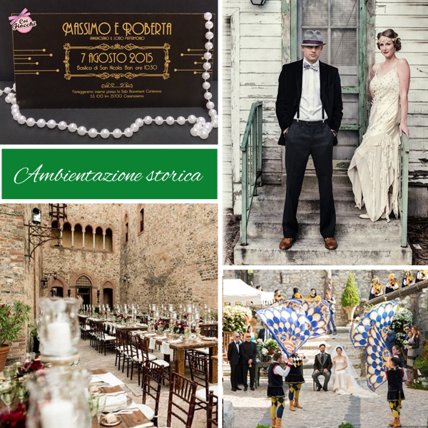 nuove tendenze nozze per il matrimonio 2020 - nozze ad ambientazione storica medievale e anni venti