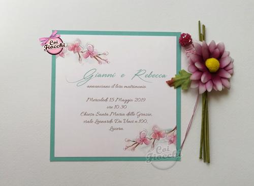 partecipazioni-di-matrimonio-illustrate-ad-acquerello con orchidee