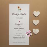 partecipazione matrimonio in carta riciclata semplice