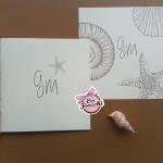 partecipazioni matrimonio in carta riciclata a tema mare con conchiglie