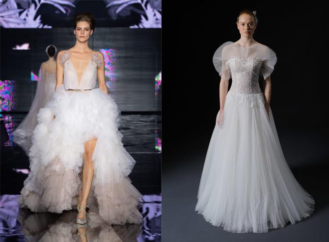 vestiti da sposa 2020 con tulle abbondante
