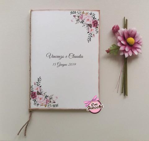 menu nozze a tavolo con fiori boho chic