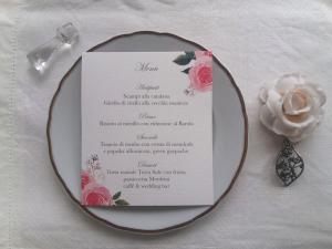 menu per il matrimonio personalizzati