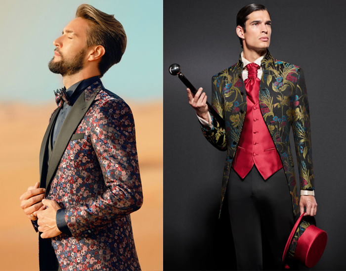 abiti-da-sposo-2020-abito da sposo giacca colorata a fantasia