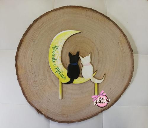 cake topper con gattini