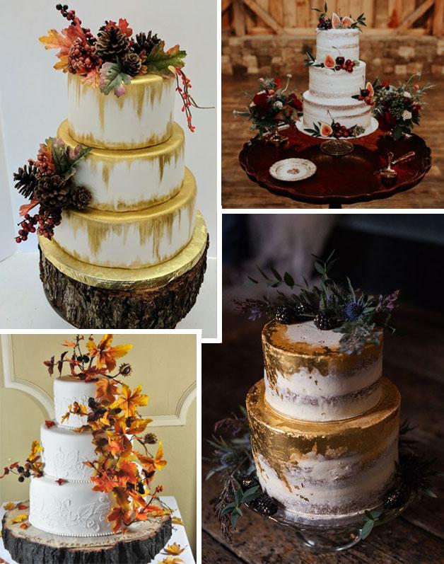 idee per il matrimonio in Autunno-torte nuziali