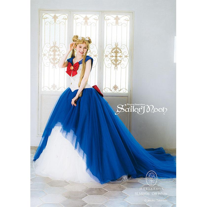 Abito da sposa ispirato alla divisa alla marinara di Sailor Moon