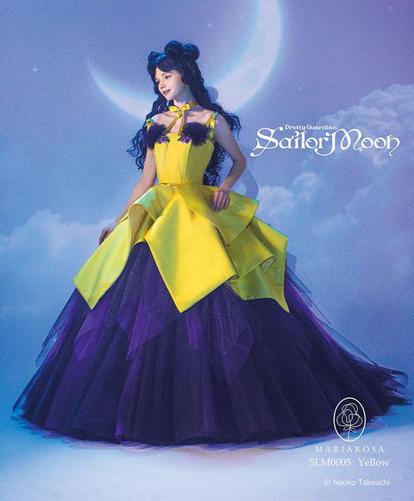 abito da sposa sailor moon ispirato a luna in versione umana