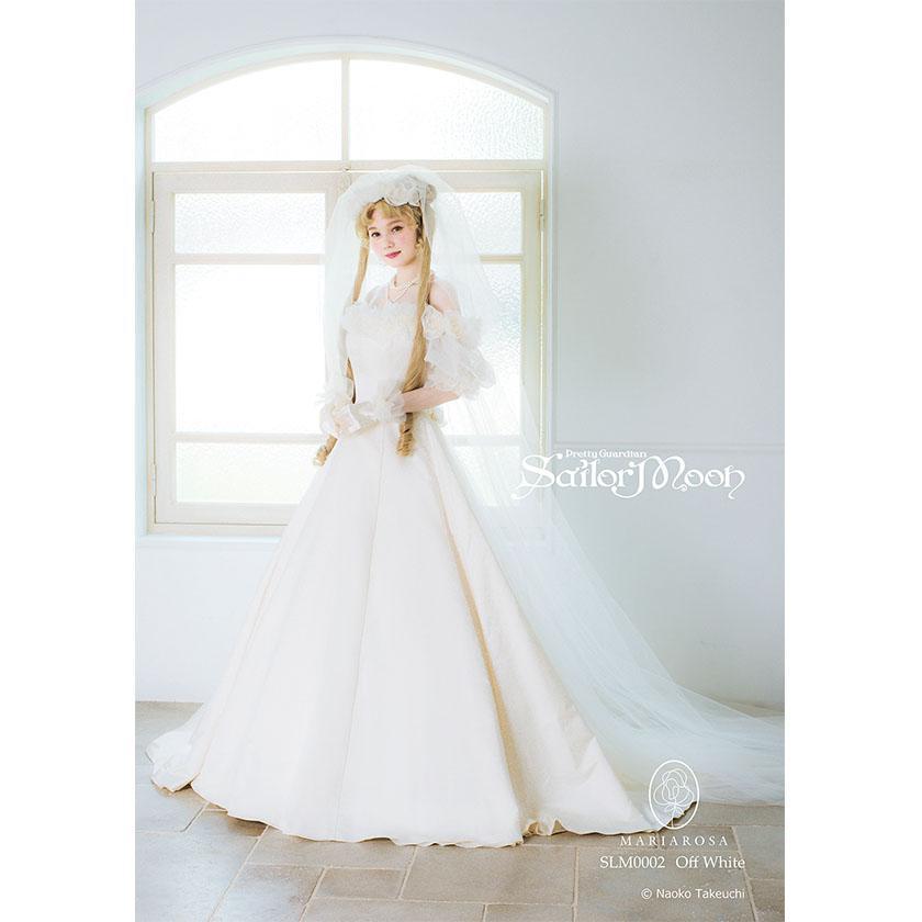 abito da sposa ispirato a quello di sailor moon e milord
