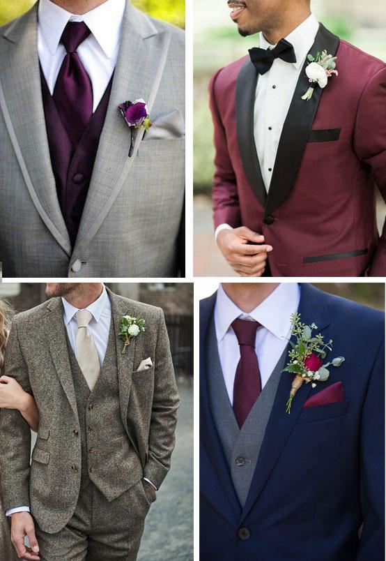 idee abito da sposo matrimonio a tema vino