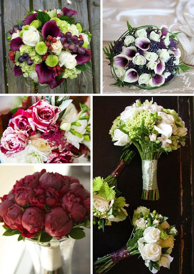 idee bouquet sposa nozze tema vino
