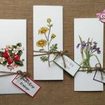partecipazioni nozze rustiche con fiori di campo disegnati