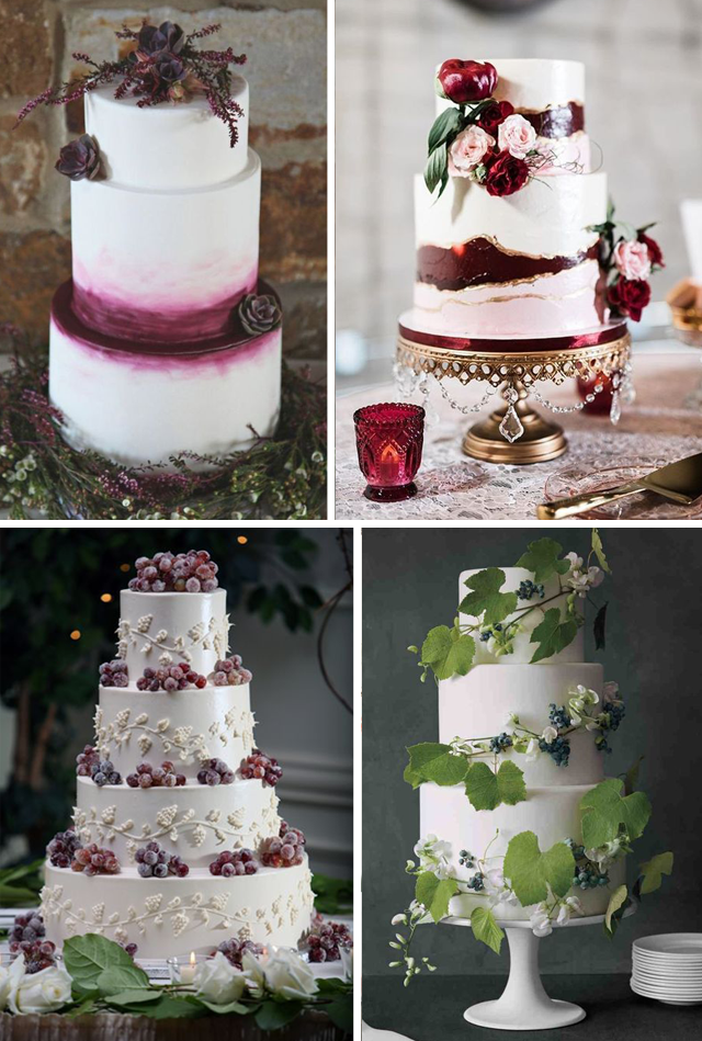 idee per torta nuziale a tema vino