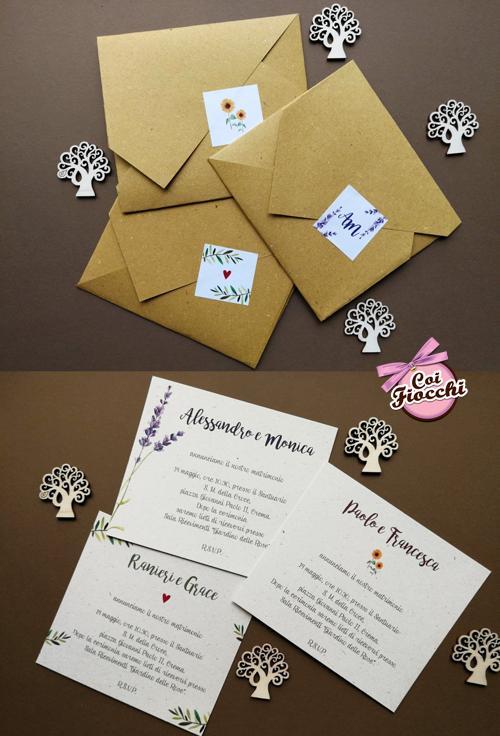 Partecipazioni economiche formato origami.