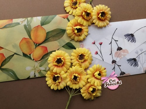 partecipazioni di matrimonio con buste in carta trasparente limoni e fiori
