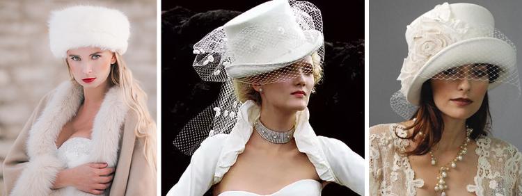 modelli di cappello da sposa adatti alla stagione invernale.