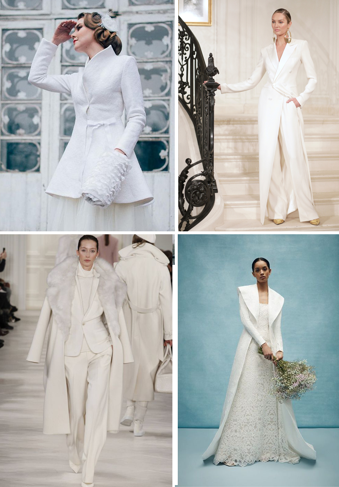 Cappotti invernali da sposa.