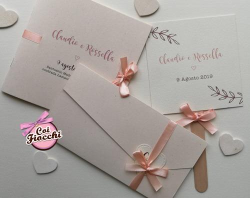 Coordinato matrimonio elegante e semplice in stile Shabby rosa pesco.