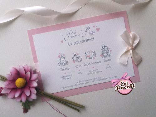 Partecipazione elegante e moderna con wedding program.