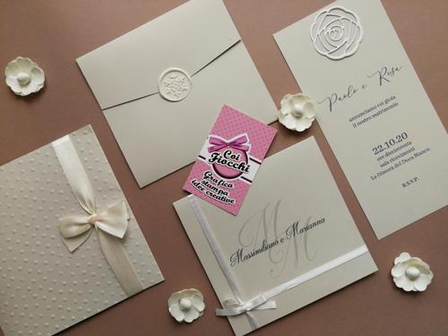 modelli di partecipazioni matrimonio classiche eleganti tutte bianche